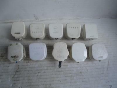 10 Vintage Mains Plugs 3 Pin Electrical Volex Lyvia Nettle Ivorine + Others Lot3