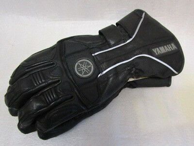 Yamaha Stratosphere Black Leather Textile Motorcycle Gloves RRP £79.99