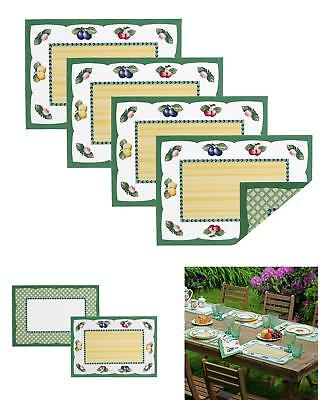 Villeroy and Boch French Garden Cotton Fabric Reversible Placemat (Set of 4), 14