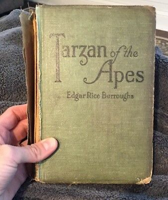 Tarzan of the Apes by Edgar Rice Burroughs 1st edition JUNE 1914 Antique Book