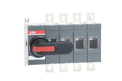 ABB 400A 4 Pole Isolator including 185mm Shaft & Black/Red
