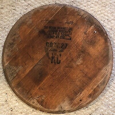 100% Authentic Jim Beam Kentucky Bourbon Whiskey Barrel Head