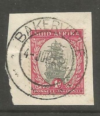 Union of South Africa Postmark Bakerville Tvl. 04.07.1935 small piece
