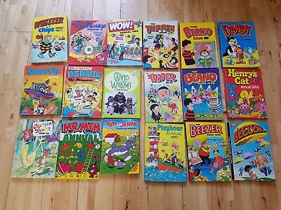 Collection of 1980's annuals