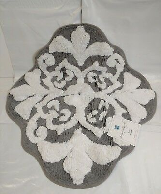"""Saturday Knight Grey/ White Benito 100%Cotton Pile Rug New With Tag 28""""x30"""""""