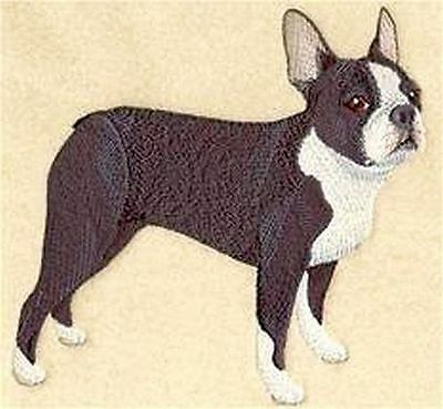 "Boston Terrier Embroidered Patch 6""x5.8"""