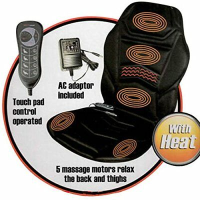 Electric Back Massager Car Seat Cover Cushion Chair Vibration Heated Home Drive