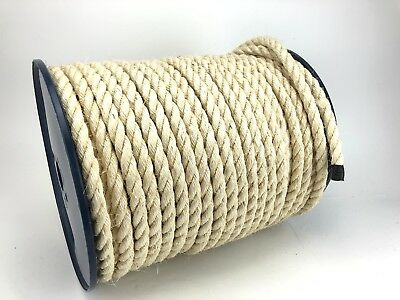 100M Trade Reels Natural Sisal Decking Rope 6mm 8mm 10mm 12mm 14mm 16mm 18mm