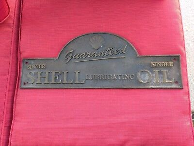"""Solid Cast Iron """"SHELL Oil Wall Plaque Sign Guaranteed"""