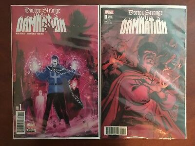 Doctor Dr Strange Damnation 1 of 4  Cover A Reis & connecting Variant B