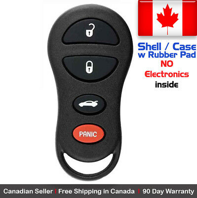 1x New Replacement Keyless Remote Case For Chrysler Dodge Jeep GQ43VT17T - Shell