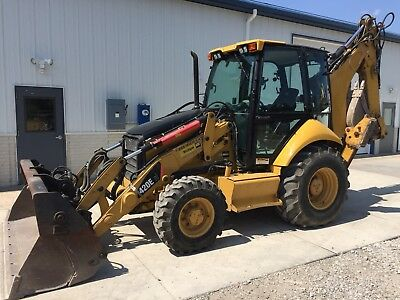 2008 Caterpillar 420E IT custom higher flow added to front of loader