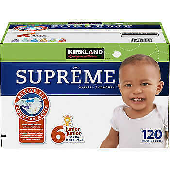 Kirkland Signature Supreme Diapers Size 6; 120-count