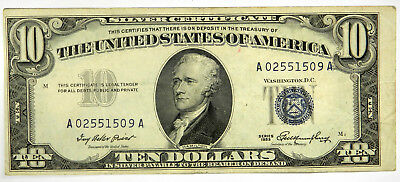 1953 $10 Silver Certificate ~ Nice Vf ~ Priced Right! (Inv#509)