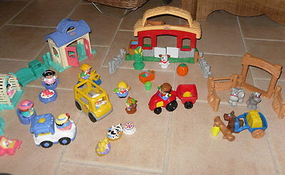 Gros Lot Little People Fisher Price Comme Neuf