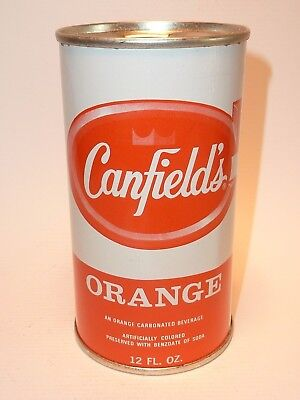 12oz Canfield's Orange Soda Flat Top *** Mint Condition !! ***