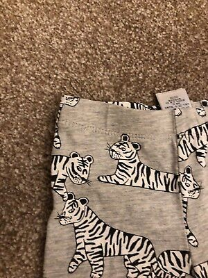Baby Boys Jersey Trousers From Next Grey Tiger Print Age 9-12 Months
