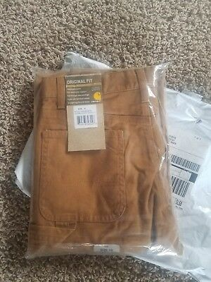 nwt carhartt youth lined duck work pants