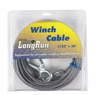"""Tie Down Engineering Winch Cable Winch 7/32"""" 7 X 19 Galvanized 50'"""