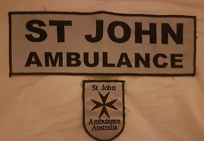 St John Ambulance Patch Set - Australia EMT EMS Paramedic