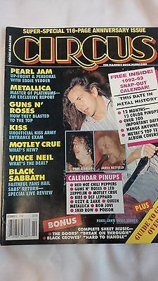 Circus Magazine Oct 1992 !! Metallica,Guns n Roses