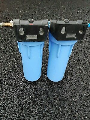"Big blue 10"" filter houses x 2, pure water production. Window cleaning etc"
