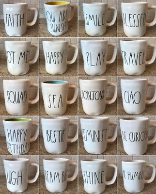 Rae Dunn MUGS - BEST SELECTION You Choose LL Spring Easter Valentine *Comb Ship