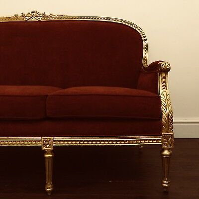 Royal Grand Sofa & Chair Set Gold - Downtown Abbey Late 19th Century