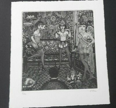 PATRICIA NIK DAD judgement of Paris EROTIC EXLIBRIS bookplate