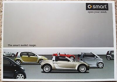 Brand new!!! SMART Fourtwo, fourfour and roadster brochure.