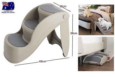 Dog Steps Stairs Ladder Cat Folding Washable Multi 3 Stairs Pet Ramp Portable