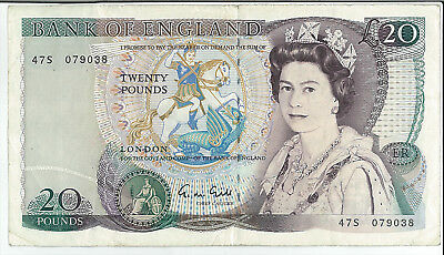 Bank of England £20 Twenty Pound Note Series D (Shakespeare) 47S 079038 BE209 VF