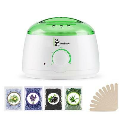 Karlash Wax Warmer Hair Removal Kit with Hard Wax Beans and Wax Applicator Stick