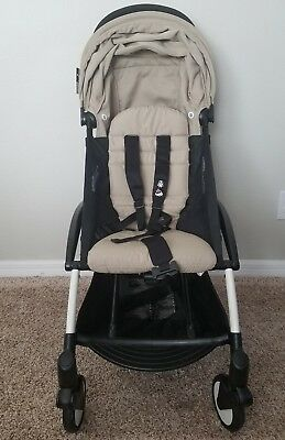 BABYZEN YOYO +  stroller white frame/Taupe color pack with Travel bag