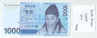 1000 South Korean Won (One Thousand) Uncirculated #203