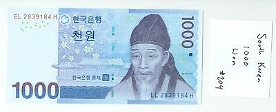 1000 South Korean Won (One Thousand) Uncirculated #204