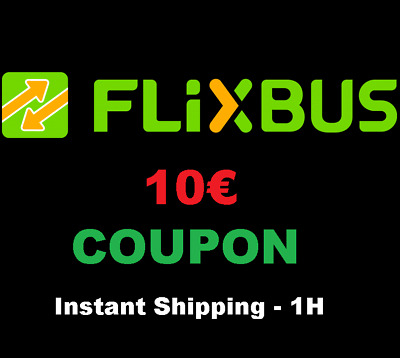 ➤2x5€ Coupon FlixBus Shipping in 1h! - Buono Sconto Autobus Discount 10€ COUPON