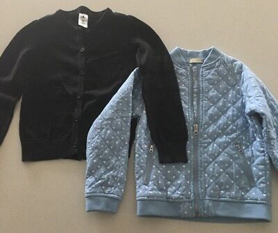 2 X Girls Size 6 Jumpers Cardigans