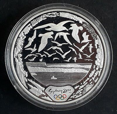 2000 Australia Sydney Olympic Collection ( 99.9% ) $5 Coin Harbour of Life Air