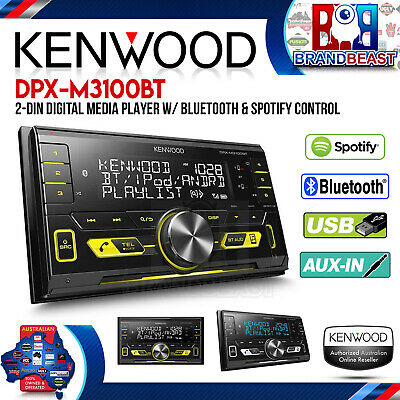 Kenwood DPX-M3100BT Double Din Dual Bluetooth Mp3 Aux Usb Iphone Android NO CD