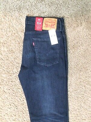 NWT Levis 514 Performance Motion Stretch Straight 'Soft' Dark Blue Jeans (0725)