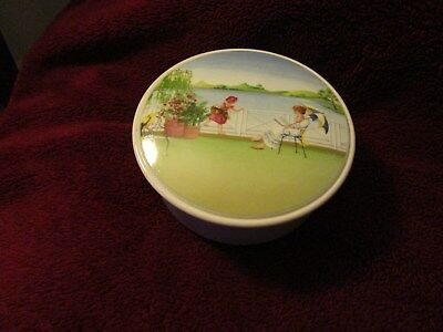 Villeroy & Boch Romantic Seasons No. 2  Covered Candy / Trinket Dish ~ Mint
