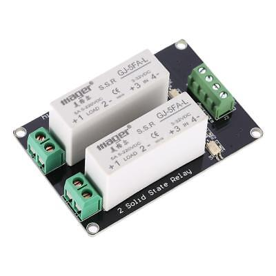 2-channel High Level Trigger 3-32V 5A Solid State Relay Module Board X7Q2
