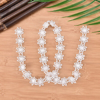 1 yard diy embroidered daisy flower applique costume decorated lace sew trim FR