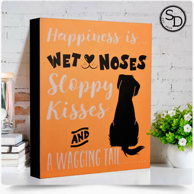 Dog Signs & Plaques Wet Noses Wagging Tails Dog Sign Fun Dog Signs