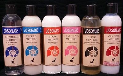 Jo Sonja's 'MEDIUMS' 250ml Acrylic Paint (You choose) Crackle/Medium Painting