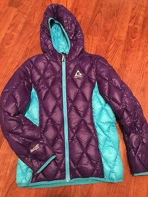 Gerry Fill Power 650 down puffer jacket girls youth M 10-12 purple teal