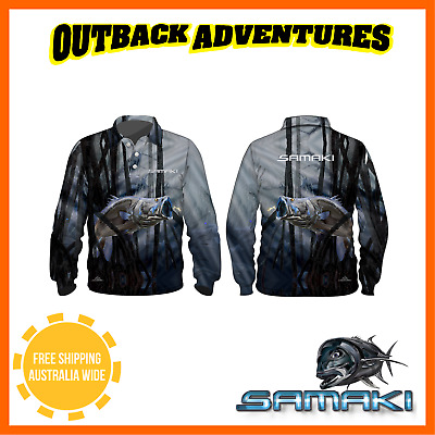 Samaki Chromed Bara Long Sleeve Fishing Shirt - Adult Size - 3 Xl