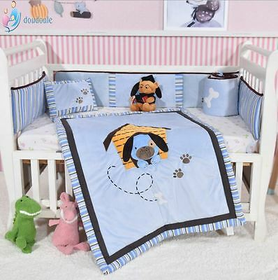 Baby Boys Little Puppy 8-Piece Crib Bedding Set Baby Bedding sets Crib Cots Set