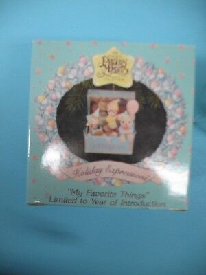 """Precious Moments Ornament 831204 """"My Favorite Things"""" 1992"""